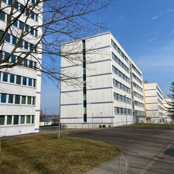 Die Büro und Verwaltungsgebäude des ehemaligen MfS sind heute Sitz von Finanzamt,Justiz und weiteren Behörden