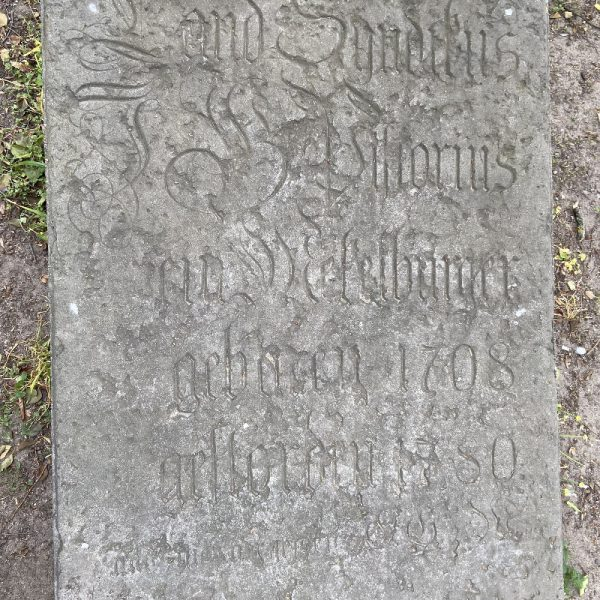 Grabplatte Landessyndikus