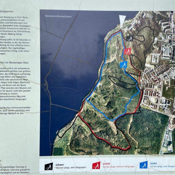 Karte am Eingang des Nordic_ Walking_Parkes